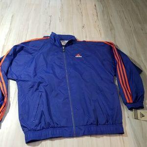Adidas XL windbreaker mens coat jacket light zip